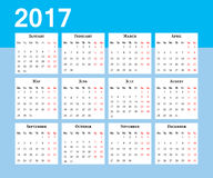 Calendar. Week starts on Monday Royalty Free Stock Photography
