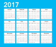 Calendar. Week starts on Monday Royalty Free Stock Image