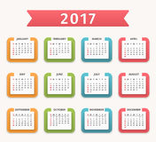 2017 Calendar Royalty Free Stock Image