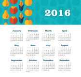 Calendar for 2016. Week Starts Sunday. EPS 10 Stock Photography