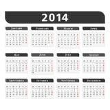 2014 Calendar Royalty Free Stock Photo
