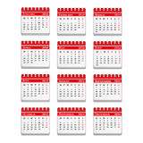 2014 Calendar Royalty Free Stock Photography