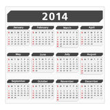 2014 Calendar. On white background Stock Image
