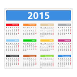 2015 Calendar. On white background Stock Images