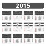 2015 Calendar Royalty Free Stock Photo