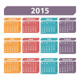 2015 Calendar. On white background Royalty Free Stock Images