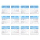 2016 Calendar. On white background stock illustration