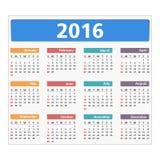 2016 Calendar. On white background Stock Images