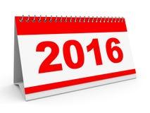 Calendar 2016. Calendar 2016 on white background. 3D illustration Royalty Free Stock Photos