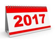 Calendar 2017. Calendar 2017 on white background. 3D illustration Stock Photos