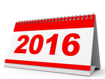 Calendar 2016. Calendar 2016 on white background. 3D illustration Stock Images