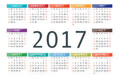 Calendar for 2017 Royalty Free Stock Images