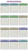 Calendar for 2016 on White Background. Simple Vector Template. Calendar for 2016 on White Background. Week Starts Monday Stock Illustration