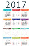Calendar for 2017 Stock Photos