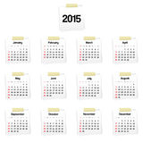 Calendar 2015 Royalty Free Stock Image