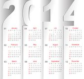 Calendar. On white sheets of paper Stock Photography