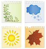 Calendar With The Image Of Seasons Royalty Free Stock Photography