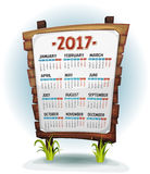 2017 Calendar On Wood Sign Stock Image