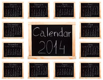 Calendar 2014 Royalty Free Stock Image