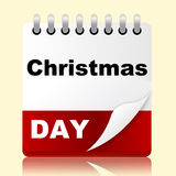 Calendar Xmas Means New Year And Appointment Royalty Free Stock Images