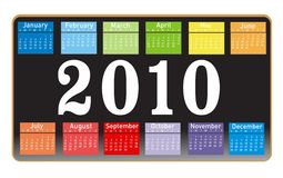 Calendar for year 2010 Royalty Free Stock Photo