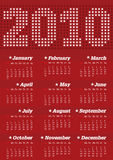 Calendar for year 2010. In vector format stock illustration
