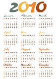 Calendar for year 2010. In vector format royalty free illustration