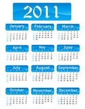 Calendar for Year 2011. On white Stock Image