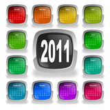 Calendar for year 2011 Royalty Free Stock Image