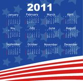 Calendar for Year 2011. Illustration Royalty Free Stock Image