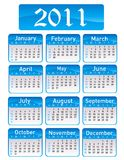 Calendar for Year 2011. On white Royalty Free Stock Photography