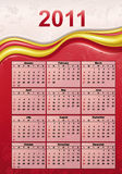 Calendar for Year 2011. Colorful Calendar for Year 2011, week starts on Sunday Royalty Free Stock Photography