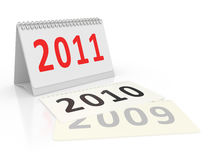 Calendar Year 2011 Stock Image