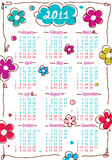 Calendar for year 2011 with flowers. Vector format Stock Photos