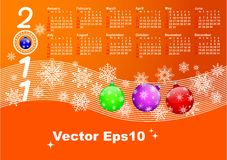 Calendar for year 2011. vector 10eps. Royalty Free Stock Photos