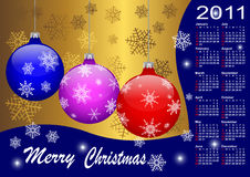 Calendar for year 2011. vector 10eps. Calendar for year 2011. american style (Week starts on Sunday). vector 10eps Stock Image