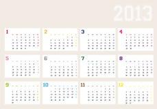 Calendar year 2013 Stock Photography