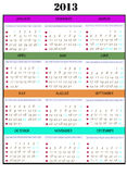 Calendar year 2013, Royalty Free Stock Image