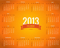 Calendar Year 2013 Vector Template. Vector calendar, you can change this image that it was uploaded also with eps10 file Royalty Free Stock Photos