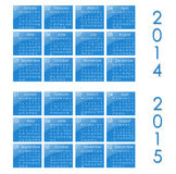Calendar. For year 2014 and 2015 Royalty Free Stock Photos