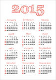 2015 calendar. The calendar for 2015 year royalty free illustration