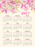 Calendar for 2017 year Royalty Free Stock Images