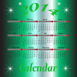 Calendar for 2014 year Stock Photography