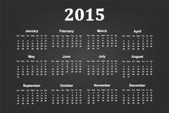 Calendar Of Year 2015. On Blackboard Stock Photography
