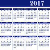 Calendar for the year 2017 stock photography