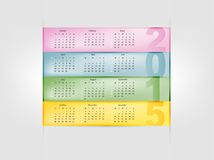 Calendar for 2015. Year with colorful background Royalty Free Stock Photography