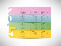 Calendar for 2015. Year with colorful paper background Royalty Free Stock Photo