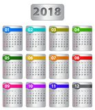 2018 calendar Royalty Free Stock Images