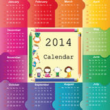Calendar on 2014 year Stock Images