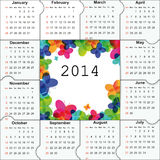 Calendar on 2014 year Royalty Free Stock Photo